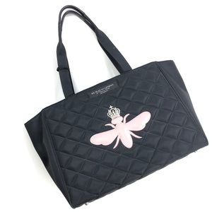 My Flat In London | Quilted Black Tote Pink Bee